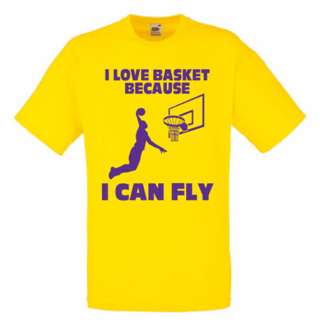 T-SHIRT I LOVE BASKETBALL
