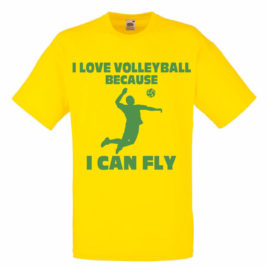 T-SHIRT I LOVE VOLLEYBALL