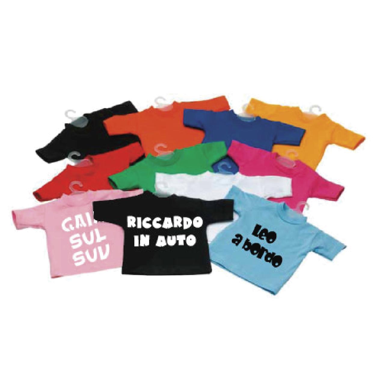 Mini T Shirt Personalizzata Per Auto Appendibile Cheideastore