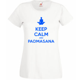 T-SHIRT KEEP CALM PADMASANA