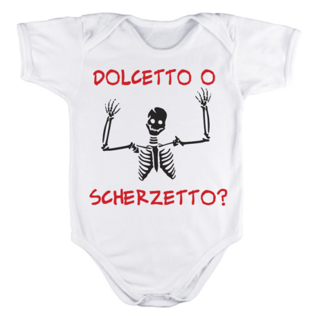 BODY BABY HALLOWEEN SCHELETRO