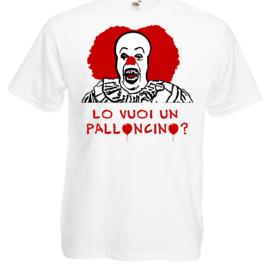 t-shirt it pennywise lo vuoi un palloncino?