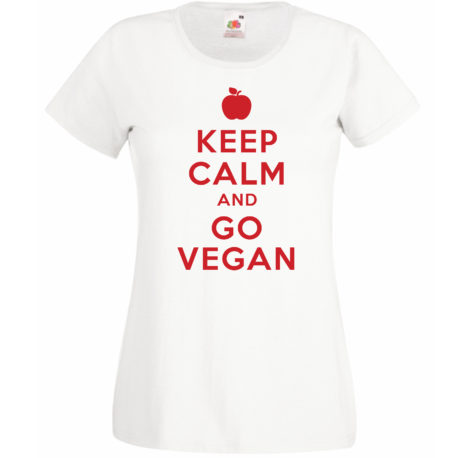T-SHIRT KEEP CALM GO VEGAN