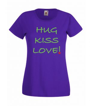 T-SHIRT HUG KISS LOVE DONNA by MammAlternatiVeg