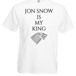 T-SHIRT GAME OF THRONES JON SNOW MY KING