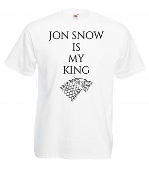 T-SHIRT GAME OF THRONES JON SNOW MY KING