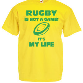 T-SHIRT RUGBY IT'S MY LIFE BAMBINO UOMO