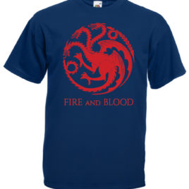 T-SHIRT GAME OF THRONES TARGARYEN FIRE AND BLOOD