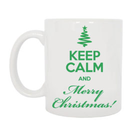 TAZZA KEEP CALM AND MERRY CHRISTMAS