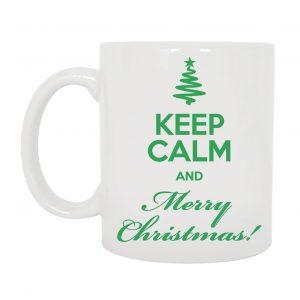 TAZZA KEEP CALM AND MERRY CHRISTMAS