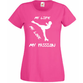 T-SHIRT PATTINAGGIO ROTELLE MY LIFE DONNA BAMBINA