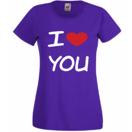 T-SHIRT AMORE I LOVE YOU SAN VALENTINO DONNA