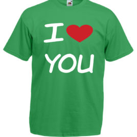 T-SHIRT AMORE I LOVE YOU SAN VALENTINO UOMO