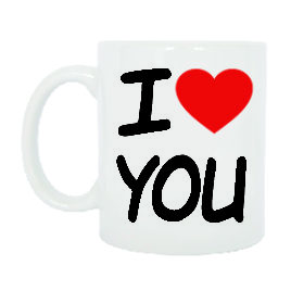 TAZZA I LOVE YOU TI AMO