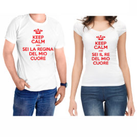 T-SHIRT KEEP CALM MIO RE MIA REGINA