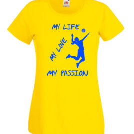 T-SHIRT VOLLEY MY LIFE DONNA BAMBINA