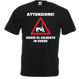 T-SHIRT ADDIO AL CELIBATO IN CORSO