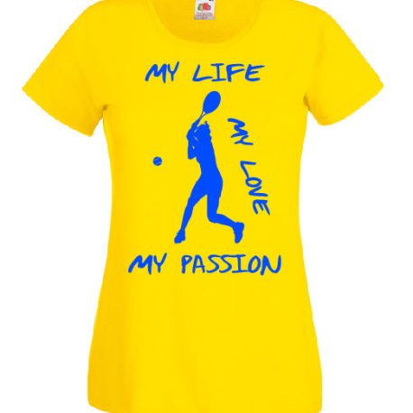 T-SHIRT TENNIS MY PASSION DONNA BAMBINA