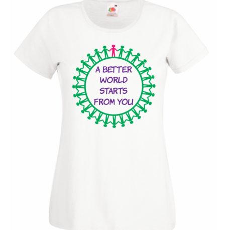 T-SHIRT A BETTER WORLD by MammAlternatiVeg