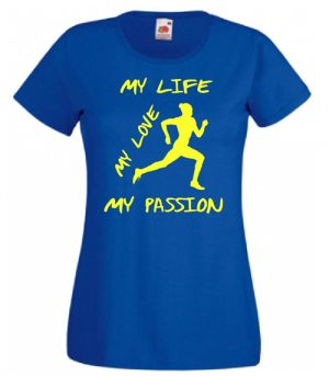 T-SHIRT RUNNING MY PASSION DONNA BAMBINA
