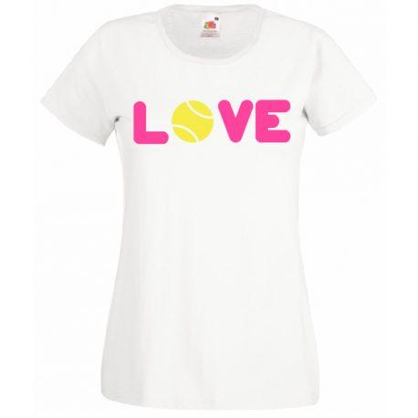T-SHIRT LOVE TENNIS MAGLIETTA DONNA