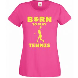 T-SHIRT BORN TO PLAY TENNIS MAGLIETTA BAMBINA