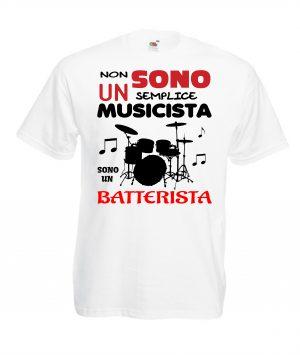 T-SHIRT BATTERISTA MUSICISTA UOMO BAMBINO