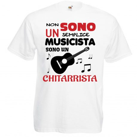 T-SHIRT CHITARRISTA MUSICISTA BAMBINO UOMO