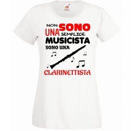 T-SHIRT CLARINETTISTA MUSICISTA DONNA BAMBINA