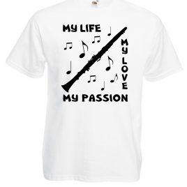 T-SHIRT CLARINETTO MY PASSION UOMO BAMBINO T-SHIRT CLARINETTO MY PASSION UOMO BAMBINO Per chi vive la MUSICA con passione, qui su Cheideastore.it abbiamo un vasto assortimento di T-shirt e tazze per tutti i musicisti. T-shirt CLARINETTO MY PASSION