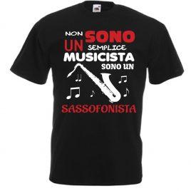 T-SHIRT SASSOFONISTA MUSICISTA UOMO BAMBINO
