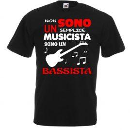 T-SHIRT BASSISTA ROCK UOMO BAMBINO